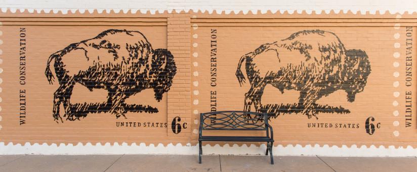 Bison_Mural_Abilene_KS