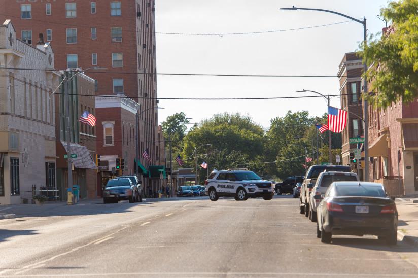 American-Flag-Downtown-Abilene,KS