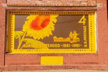 Sunflower-Stamp-Mural-Abilene,KS